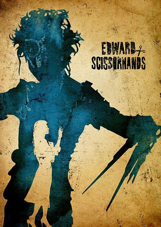 Tim Burton Edward Scissorhands Minimalist Poster von moonposter