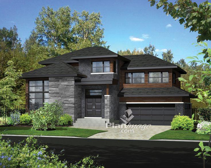 Cette spacieuse maison à étage de style contemporain mesure 50 pieds de largeur sur 48 pieds de profondeur et offre une surface habitable de 2 509 pieds carrés.