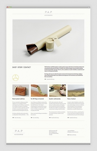 I like how clean and concise this website design is. the dominant photo brings the reader in.this is a great use of white space as well and the bottom half is very modular