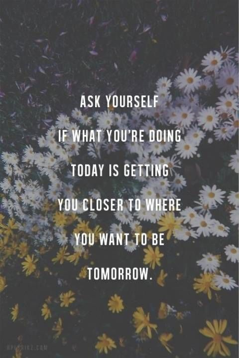 Where do you want to be tomorrow?