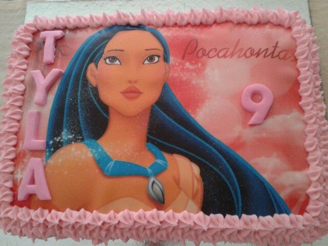 Pocahontas chocolate buttercream picture cake
