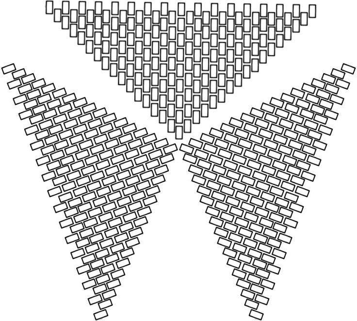 Guías para diseños triangulares en peyote | Espacio de Angela María                                                                                                                                                                                 Más