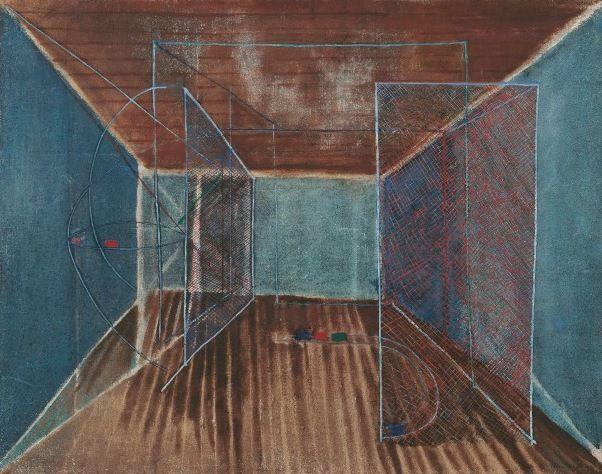 VIEIRA DA SILVA  Atelier Lisbonne, 1934-1935  óleo s/ tela  115 x 146,5 cm  Col. Fundação Arpad Szenes-Vieira da Silva
