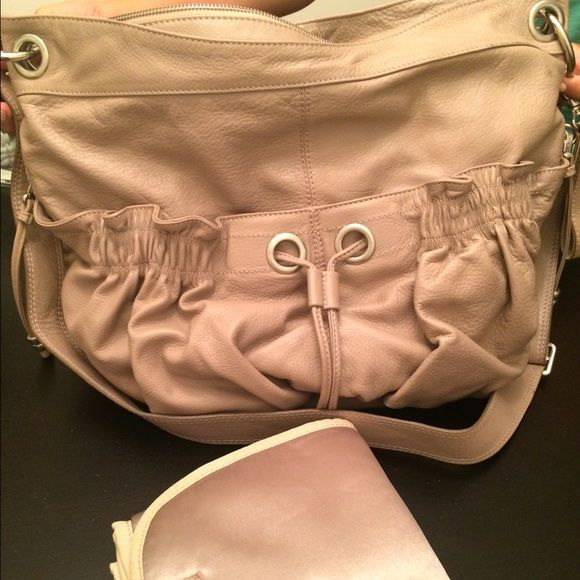 Koochu Designer Baby Changing Bag Beautiful baby changing bag made with genuine leather. Plenty of pockets to store everything you need for your baby. Comes with a baby changing blanket. Never used. #bigbag #bag #purse #baby Koochu Bags