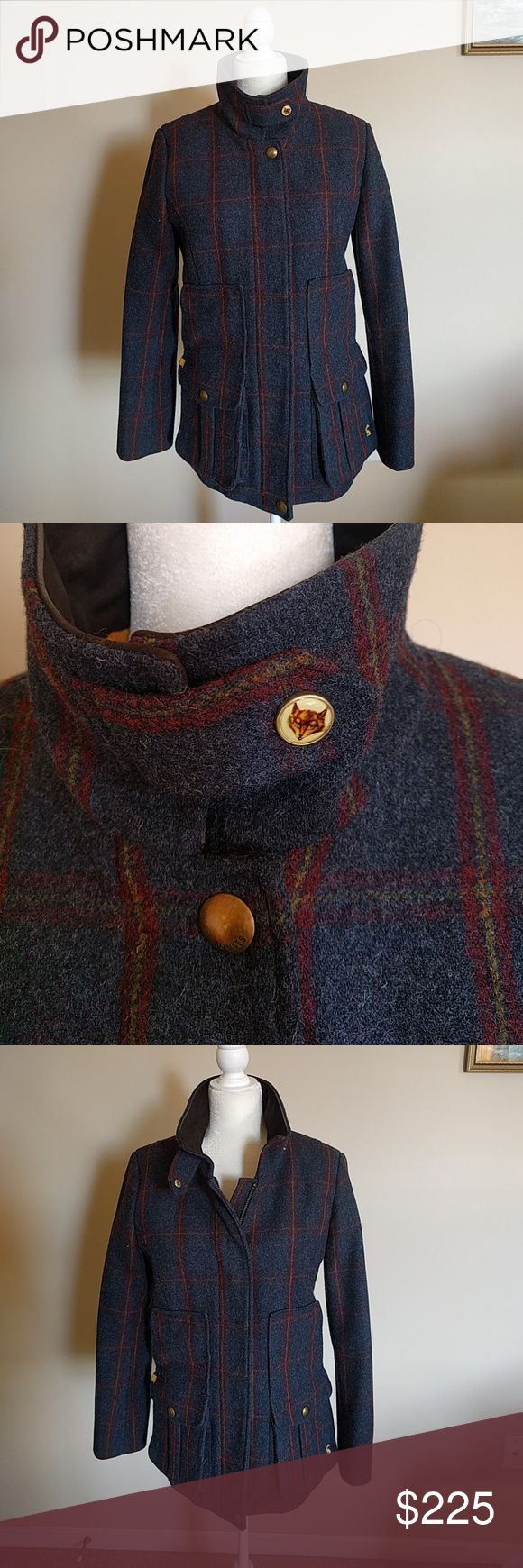Joules Blue Tweed Field Coat 10 **NO OFFERS** Gorgeous blue tweed field coat.  Joules.   Size 10.  Immaculate condition. Only selling as too big and I want to get a size smaller.  Smoke and pet free home. Joules Jackets & Coats