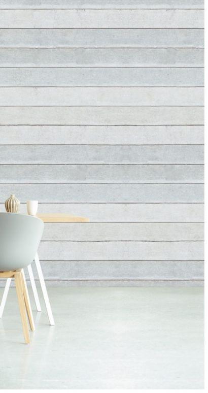 Hvide vandrette brædder - Køb fototapet med vandrette træbrædder i hvid