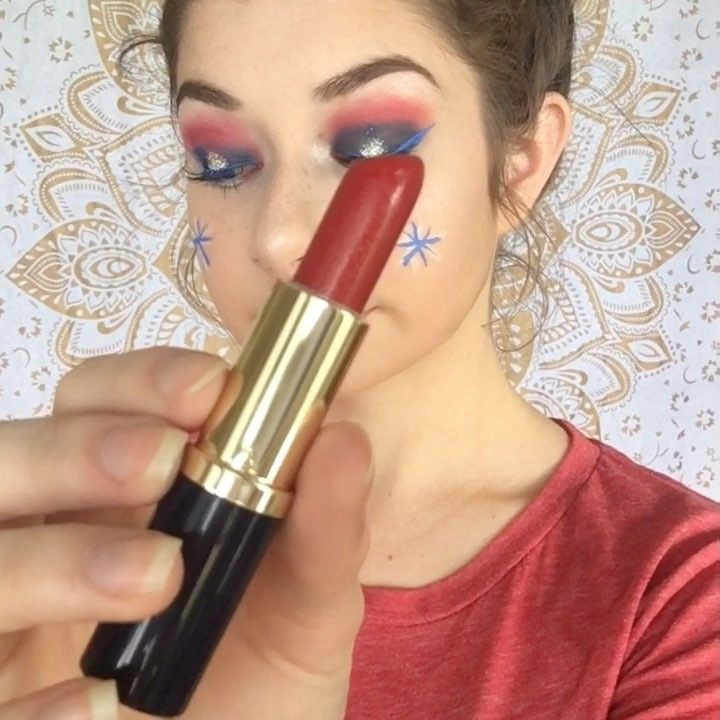 HAPPY 4TH OF JULY�� ~ peep the tapestry!!! a little different and quite extra, but it suits the holiday! ~ comment product questions! ~ SONG: stay together by noah cyrus (hit-boy remix)  #lipgloss #brows #blush #beauty #beautyguru #makeupart #makeupvid #maybelline #makeup #fourthofjuly #fourthofjulymakeup #redlips #staytogether #makeuplover #grwm #beauty #brows #makeup #makeupartist #makeuptutorial #beauty #beautyguru #beautyblogger #youtube #tartecosmetics #maybelline #revlon #highlighter…