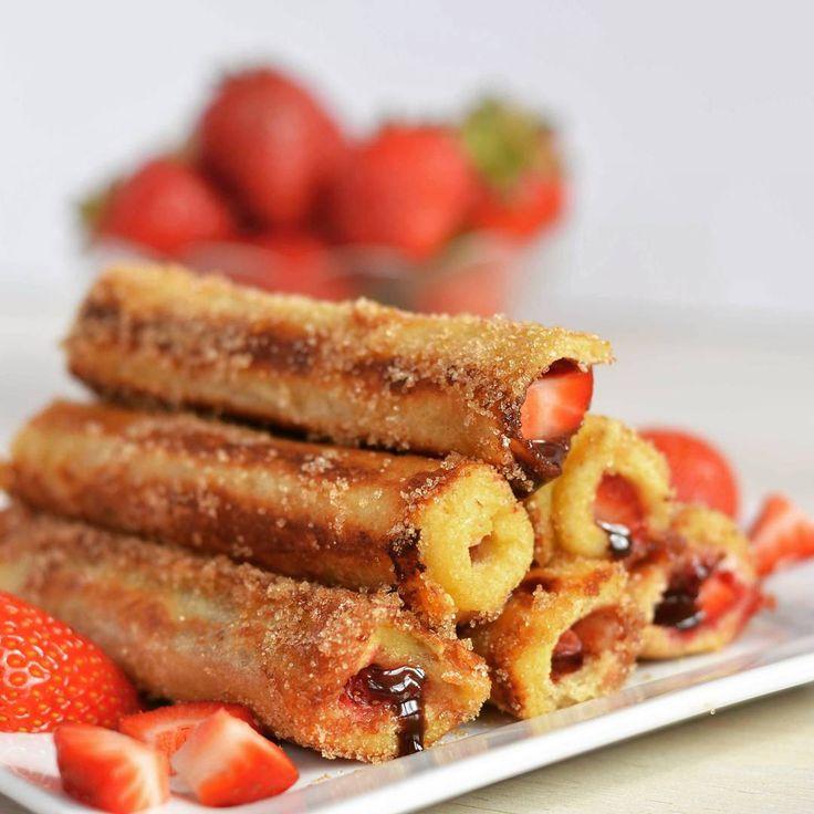 tosty z truskawkamitosty z truskawkami French Toast RollsFrench owoce pysznehellip