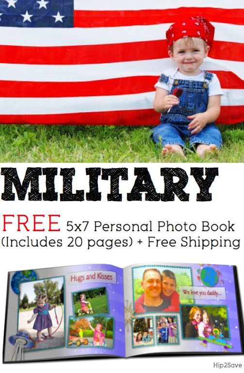 Military: FREE 5×7 Personal Photo Book (Includes 20 Pages!) + FREE Shipping via Hip2Save: It's Not Your Grandma's Coupon Site!