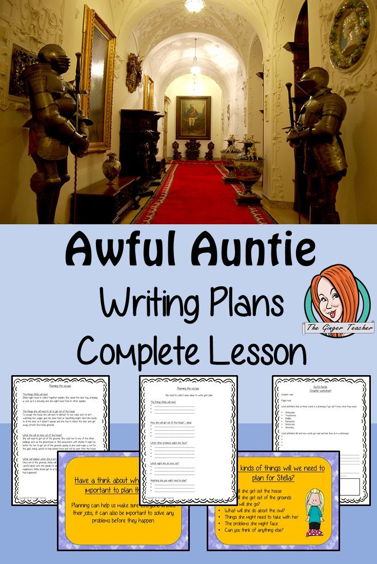 Complete Lesson On Writing A Plan Related To Awful Auntie By David Walliam Planning Teaching School Lessons Ginger Online Paraphrasing