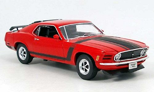 Ford Mustang Boss 302 1969 rot 1:18 Welly