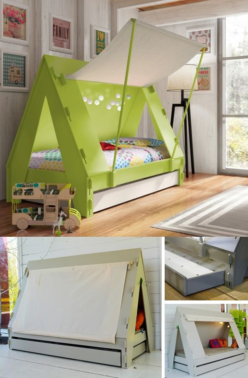Childrens Tent Bed with Storage