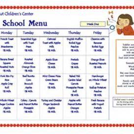 daycare menus