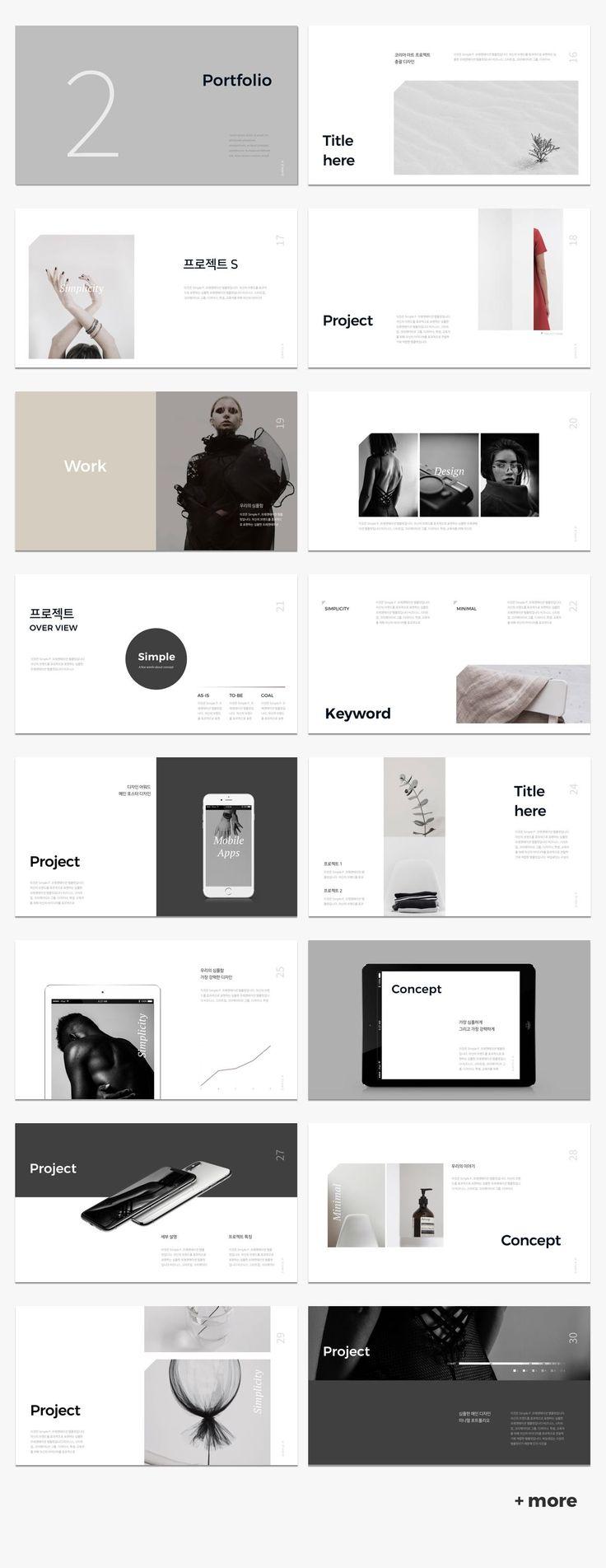 Cool Simple & Minimal Presentation Template #keynote #presentation #simple #minimal #portfolio #business