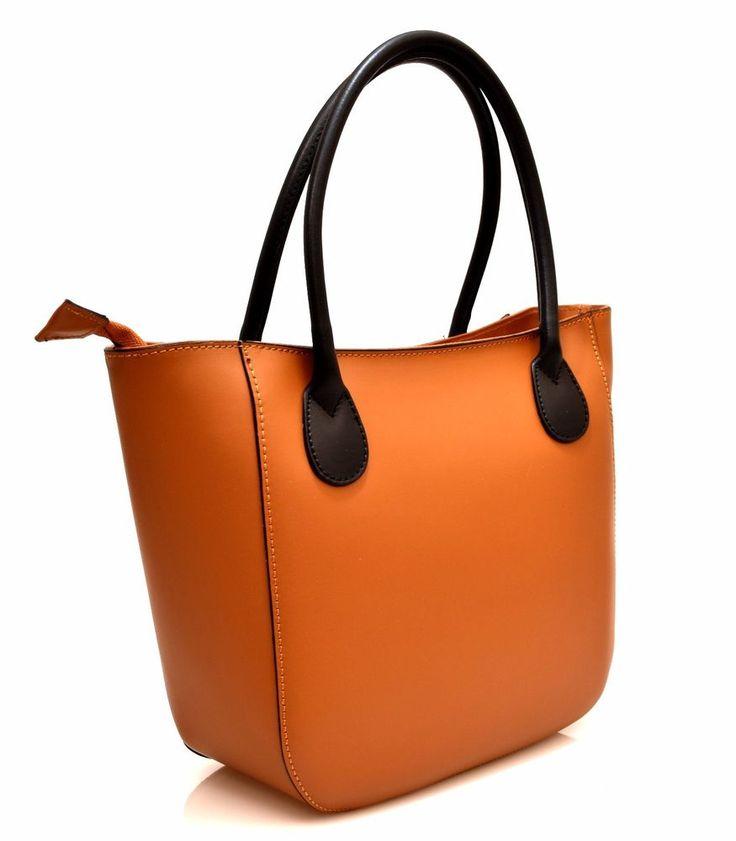 HAND BAG 13 CUOIO NERO O Pelle Borsa Mano Tracolla Shopping Donna Primavera 2017