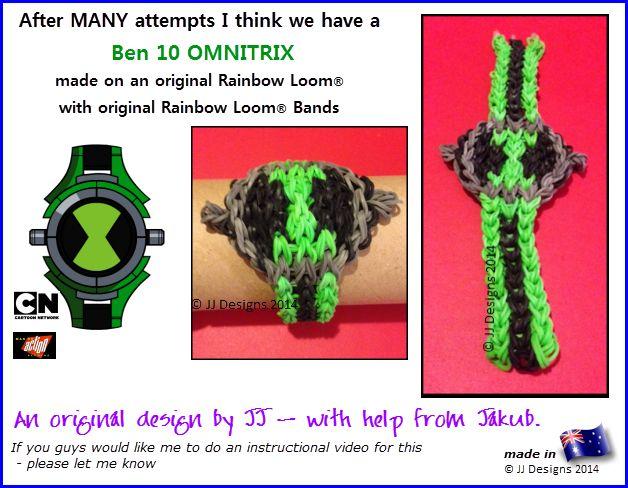 Ben 10 Omnitrix Rainbow Loom Band Original Design By Jj