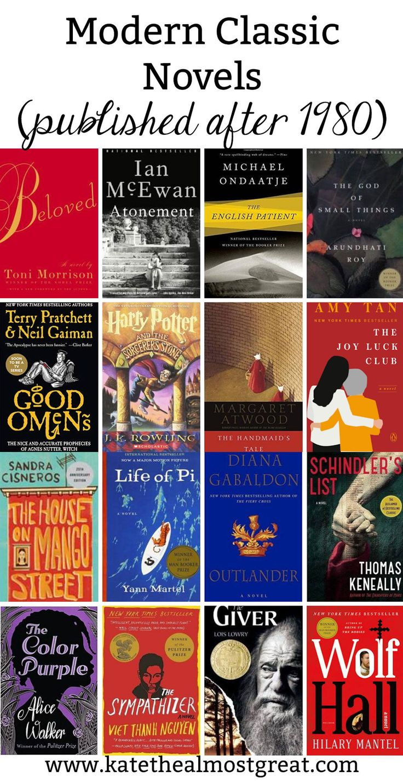 17 Modern Classic Novels | Classic must read books, Modern ...