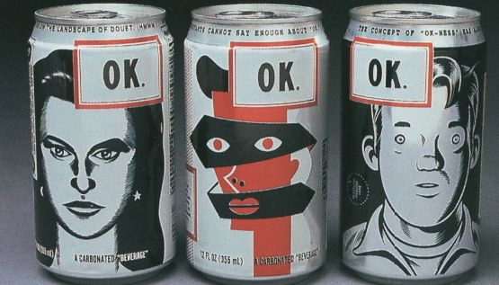 """OK Soda was a soft drink created by The Coca-Cola Company in 1993 that aggressively courted the Generation X demographic with unusual advertising tactics, including endorsements and even outright negative publicity. It did not sell well in select test markets and was officially declared out of production in 1995 before reaching nation-wide distribution. The drink's slogan was 'Things are going to be OK.'"""