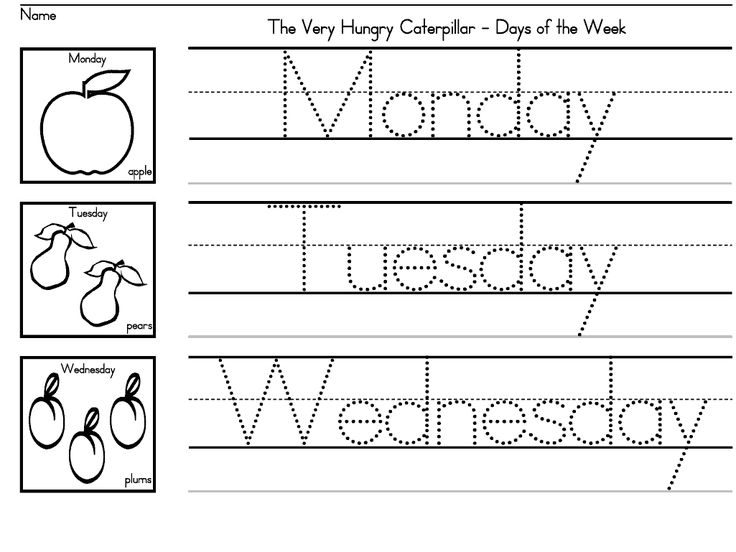 the very hungry caterpillar days of the week worksheets for preschool k and - Free Printable Fun Worksheets For Kids