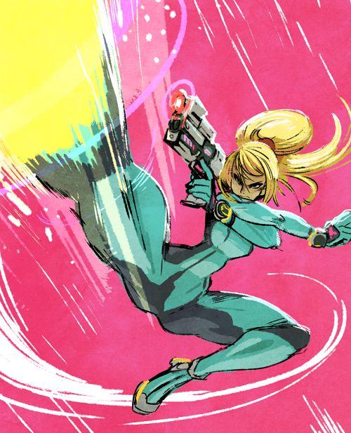Zero Suit Samus by Tyson Hesse