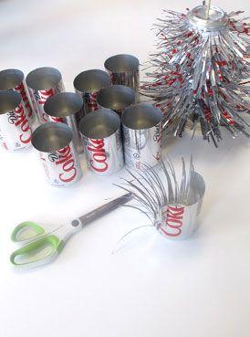 coke can christmas tree  |  www.smallhandsbigart.com/blog