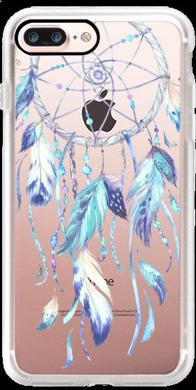 Casetify iPhone 7 Plus Case and other Boho iPhone Covers -Watercolor Blue Dreamcatcher by Ruby Ridge Studios   Casetify