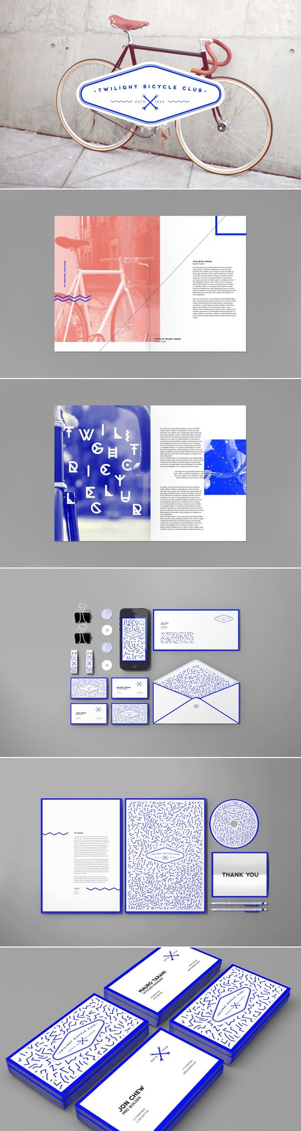 Twilight Bicycle Club| #stationary #corporate #design #corporatedesign #identity #branding #marketing < repinned by www.BlickeDeeler.de | Take a look at www.LogoGestaltung-Hamburg.de