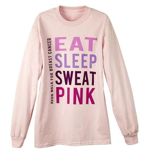 Eat, sleep, sweat, pink! We know you are passionate about fighting breast cancer so show people how dedicated you are with this long sleeve tshirt! The words EAT, SLEEP, SWEAT, PINK on the front lets everyone know you care deeply about making a difference. Color: Light Pink. Material: Preshrunk 100% cotton jersey. Unisex sizes: S-5XL.FREE PLANET SPA 2-Piece exfoliating Set with any order of $40 or more. USE CODE: GIFTME
