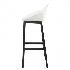 Seatshell barkruk Roijé wit/zwart | Musthaves verzendt gratis