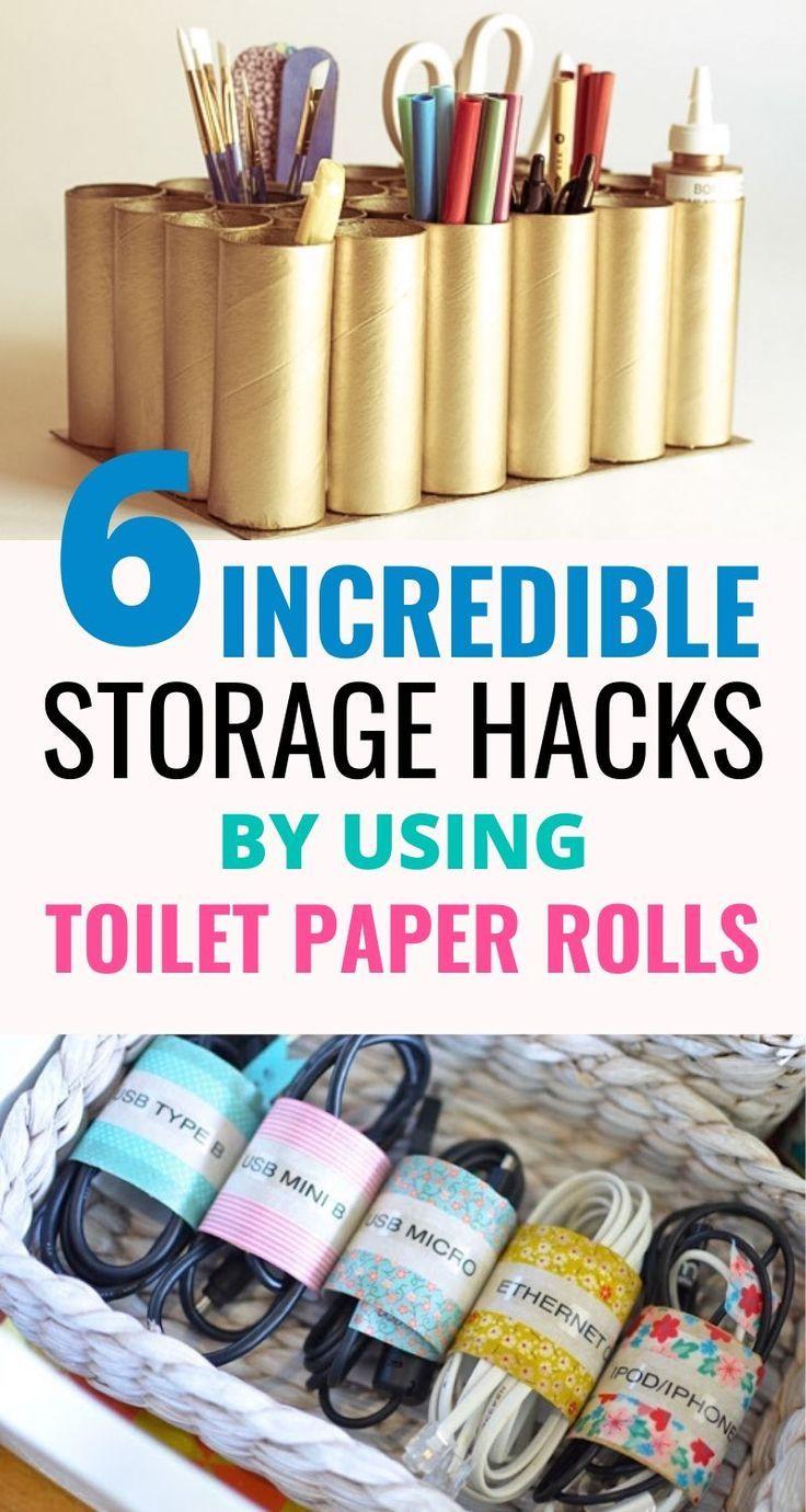 6 Mind Blowing Organization Hacks Using Toilet Paper Rolls Craftsonfire In 2020 Organization Hacks Hacks Toilet Paper Roll