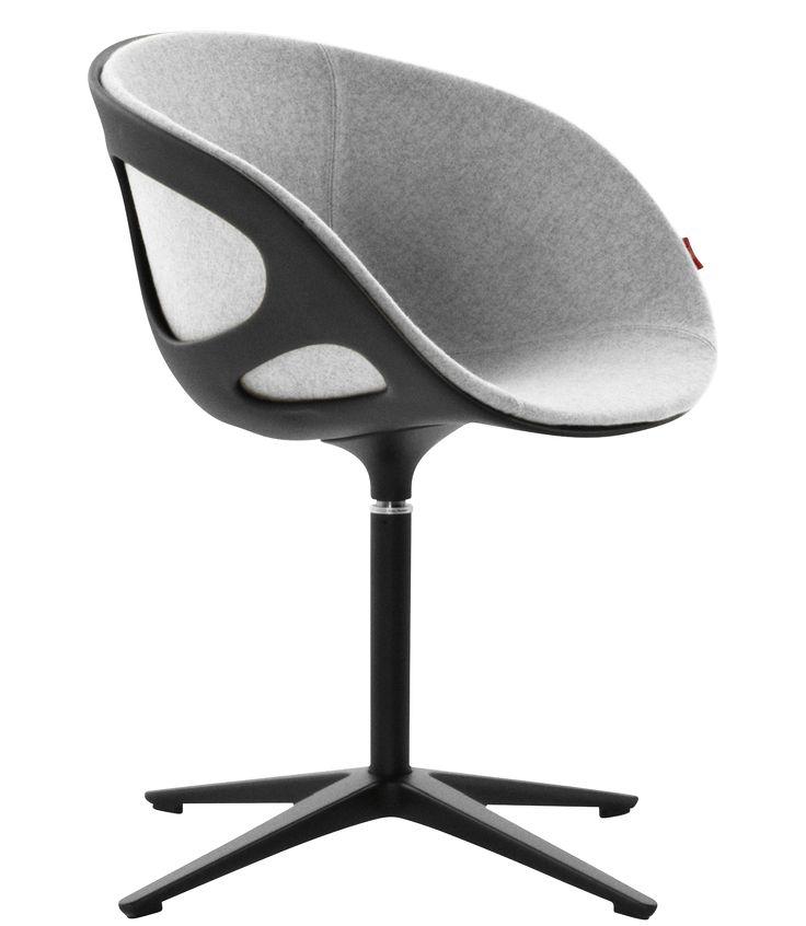 RIN chair Hiromichi Konno black 4-star pedestal base