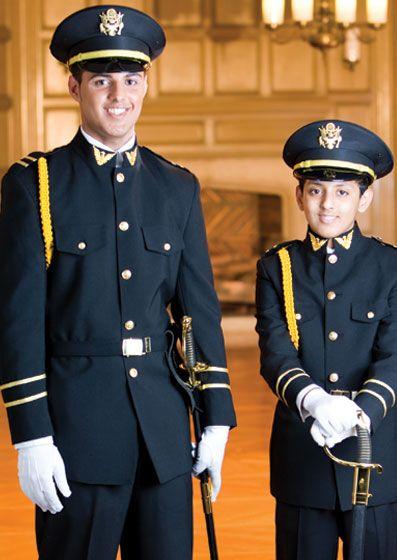Black Cadet Military Uniform