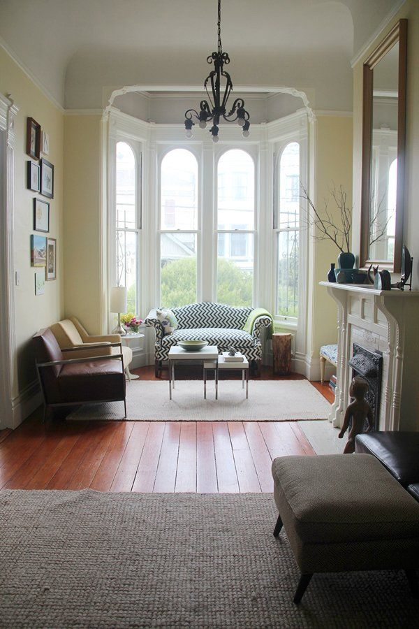 A pretty old Victorian in San Francisco.  Andi & Dean's Modern Meets Victorian House Tour | Apartment Therapy