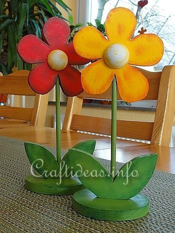 Spring Wood Craft Wooden Flowers Chris Brown Steele What Would