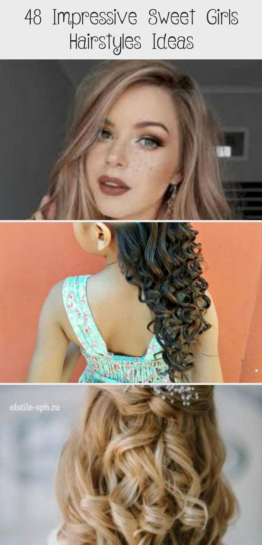 Impressive Sweet Girls Hairstyles Ideas 27 #babyhairstylesShortHair #babyhairstylesWithHeadband #babyhairstylesBraids #babyhairstylesWomen #babyhairstylesMen