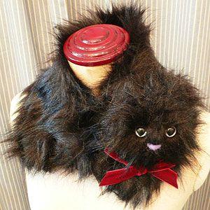 夢見る恋の猫ティペット(ハート目/ブラック) - 不思議の国のアリスグッズ|アリスモチーフ雑貨 *アランデル*【公式通販】