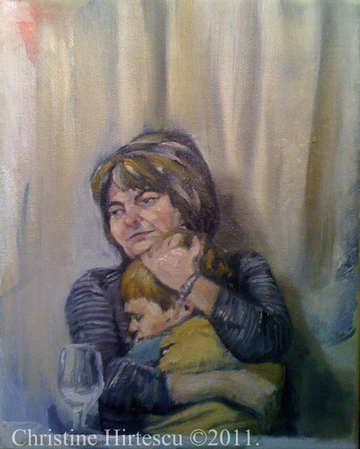 """""""Late Night"""" Oil on Canvas. 8x10"""" Christine Hirtescu. c.2011 www.chirtescu.com"""