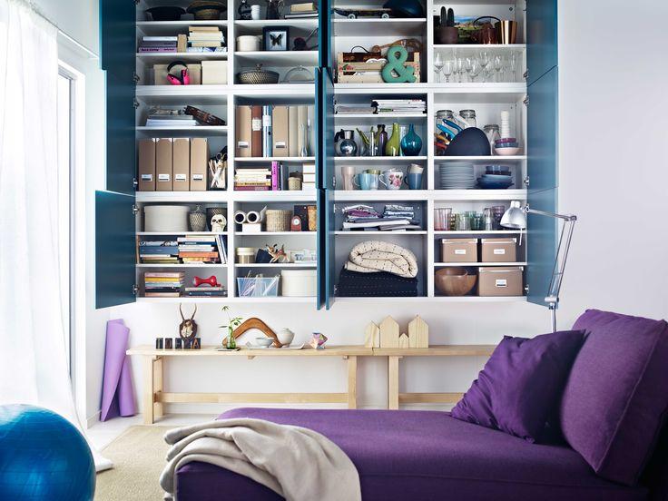 ikea Österreich, inspiration, wohnzimmer, lila, sitzecke, regal, Esszimmer
