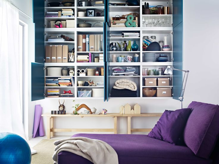 ikea wohnzimmer regal:Purple IKEA Besta Storage