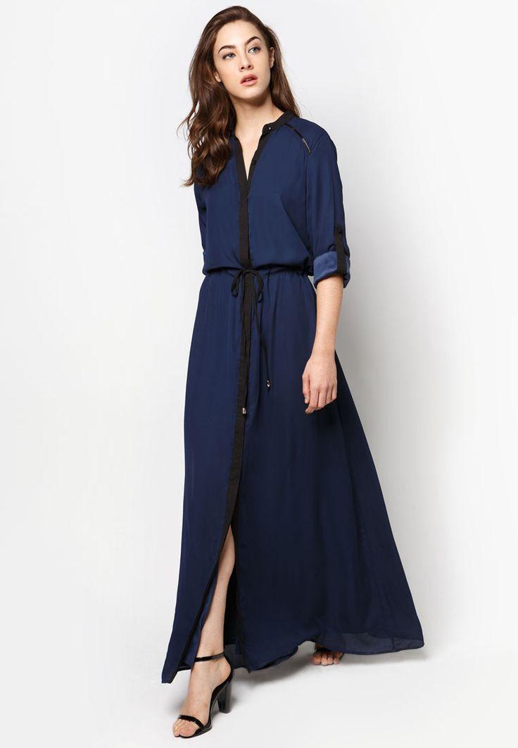 Navy Blue Shirt Dress | Most likely found only for Southeast Asia ie Singapore, Indonesia, Malaysia. | Buy Zalia Colourblock Shirt Dress | ZALORA Singapore