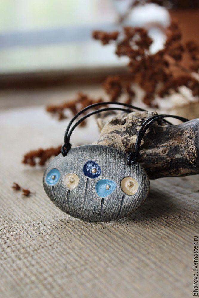 Купить Кулон из полимерной глины Городские цветы - кулон цветок, кулон из…