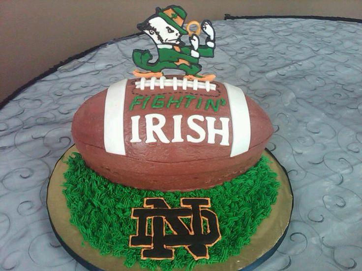 notre dame cakes | Notre Dame Football Groom's Cake — Football / NFL