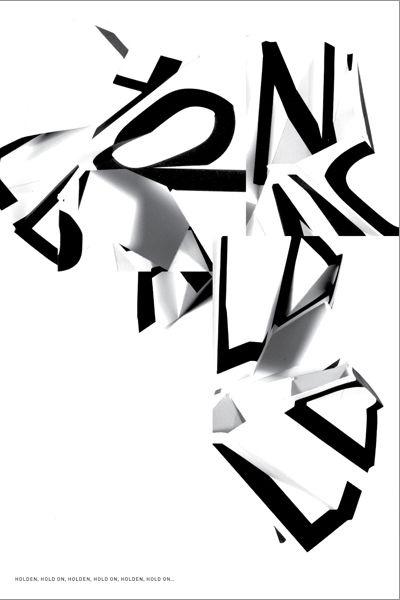 Actualité / 16 affiches typographiques pour illustrer J.D.Salinger / étapes: design & culture visuelle