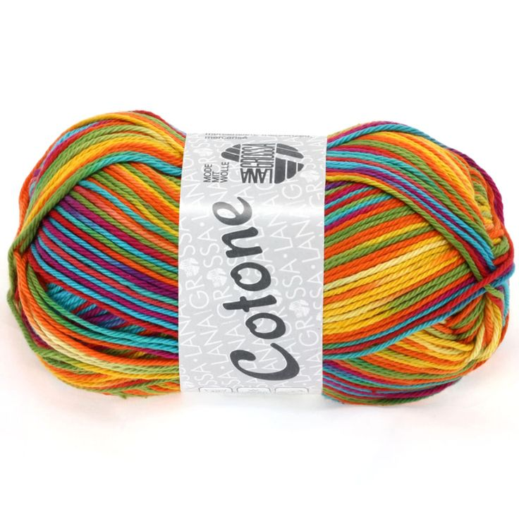 COTONE print 306-yellow / orange / red / green / turquoise / lilac | EAN: 4033493134521
