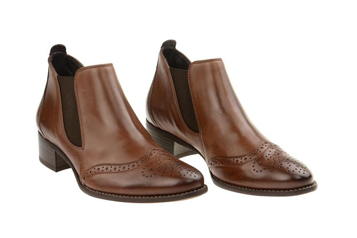 Paul Green Stiefelette braun Chelsea-Boots 7358-016