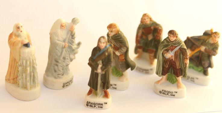 """Fèves des gâteaux de Rois- 7 figurines """"Le Seigneur des anneaux""""- Peint à la main- Version mate- Miniatures de collection - Fabophilie de la boutique SouvenirFrancais sur Etsy"""