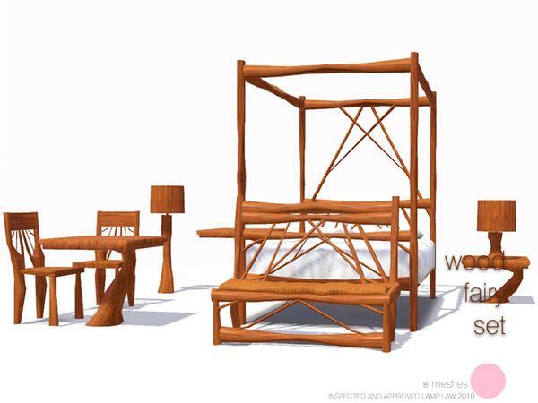 wood fairy set by dot freebies pinterest sims. Black Bedroom Furniture Sets. Home Design Ideas