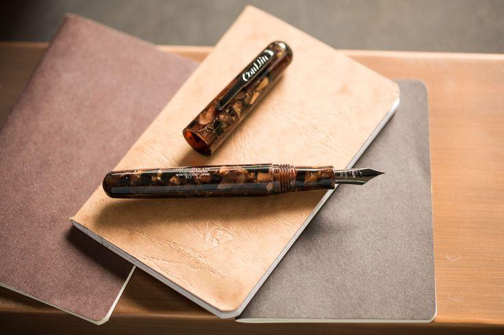 Conklin All American Brownstone Fountain Pen. Pin for Later.