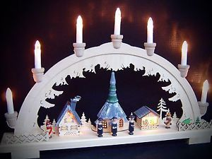 3D LED Lichterbogen Schwibbogen Seiffener Kirche mit Kurrende 57 x 36 10051   eBay