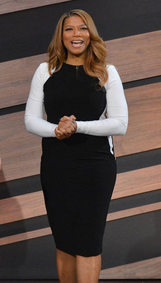 Queen Latifah Show LONG SLEEVE COLOR BLOCKED BODYCON DRESS